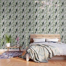 Steller's Jay in the Snow Wallpaper