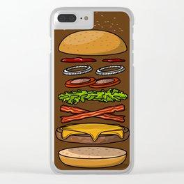 Hamburger Clear iPhone Case