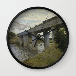 The Railroad bridge in Argenteuil Wall Clock