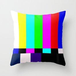 No Signal TV Throw Pillow
