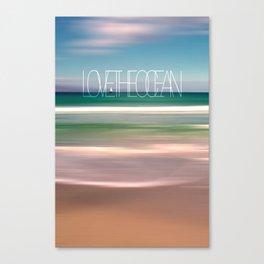 LOVE THE OCEAN II Canvas Print