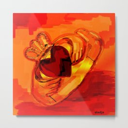 The claddagh ring  Metal Print