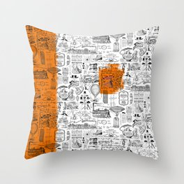 Looking Back to the Future Throw Pillow