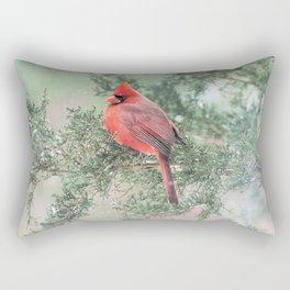Christmas Bird (Northern Cardinal) Rectangular Pillow
