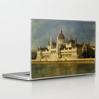 budapest Laptop & iPad Skins featuring Parlament Budapest by eMBie