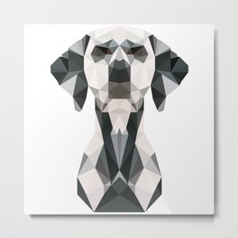 Low Poly Dalmatian Metal Print