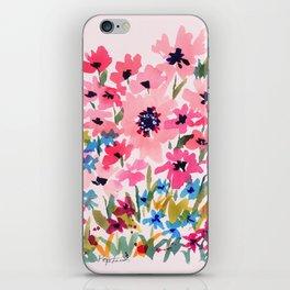 Peachy Wildflowers iPhone Skin