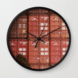 Stack of Contraband/Containers at the Port Wall Clock