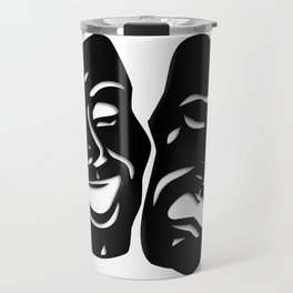 Theater Masks of Comedy and Tragedy Travel Mug