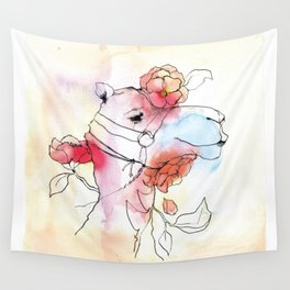 A camel in camelia Wall Tapestry