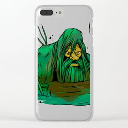 Bigfoot  creeping in swamp Clear iPhone Case