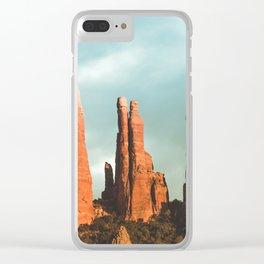 Desert Vortex Clear iPhone Case