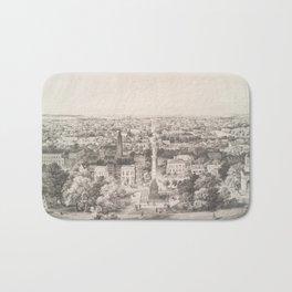 Vintage Pictorial Map of Savannah Georgia (1856) Bath Mat