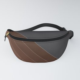 Brown-gray diagonal lines Fanny Pack