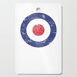Roundel British Plane Target Distressed & Worn MOD 60s Britain Cutting Board