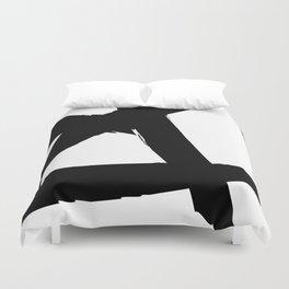 BLACK AND WHITE ABSTRACT BRUSH Duvet Cover