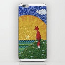 Fox in the Morning iPhone Skin