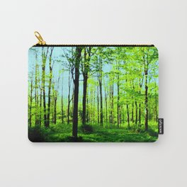 Sky Blue Morning Forest Carry-All Pouch