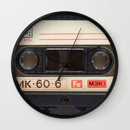 Retro 80's objects - Compact Cassette Wall Clock