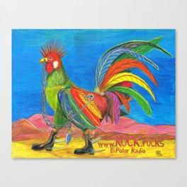 Punky Rooster KOCK.rocks BiPolar Radio Canvas Print