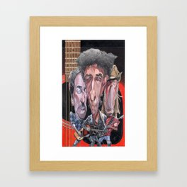 Dylan, Springsteen, and Young Framed Art Print