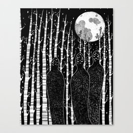 The People in the Forest Canvas Print