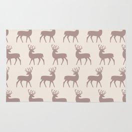 Mid Century Modern Deer Pattern Beige 3 Rug