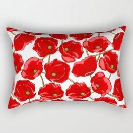 cute red poppies Rectangular Pillow