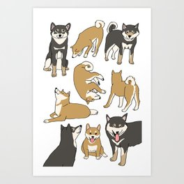 I love Shiba inu! Art Print
