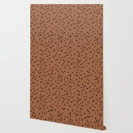 Minimal ink pattern abstract lucky rainbow brush copper Wallpaper