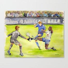 Ledley King tackles Robben Canvas Print