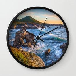 Soberanes Point Sunset, Big Sur Wall Clock