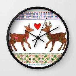 Deer in Love Wall Clock