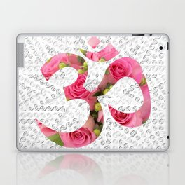 Aum Rose Silver Mandala Laptop & iPad Skin