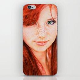 Redhead Girl iPhone Skin