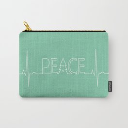 Peace Pulse Minimalist Christmas Carry-All Pouch