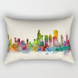 Chicago City Skyline Rectangular Pillow