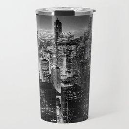 Nighttime Chicago Skyline Travel Mug