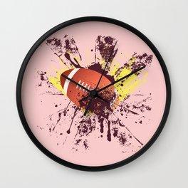 Grunge Rugby ball Wall Clock