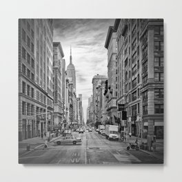 NEW YORK CITY 5th Avenue   Monochrome Metal Print