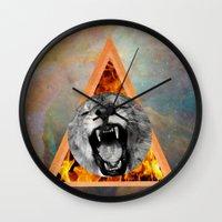 leon Wall Clocks featuring leon by blueart