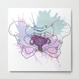 Uterus Splat Metal Print