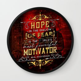 Hope in the shadow Wall Clock