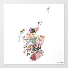 Scotland map Canvas Print