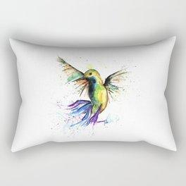 Humming Bird - Ribbons Rectangular Pillow