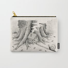 'A Visitor' (Grey) Carry-All Pouch