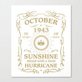 October 1943 Sunshine mixed Hurricane Canvas Print