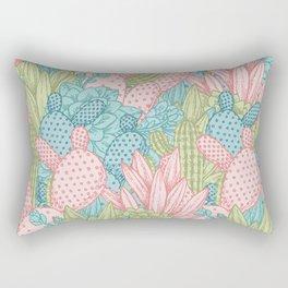 Pastel Cacti Obsession #society6 Rectangular Pillow
