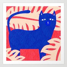 Cat Foliage 02 Art Print