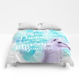 Much like the glorious llamacorn, I too am majestic and beautiful. Comforters
